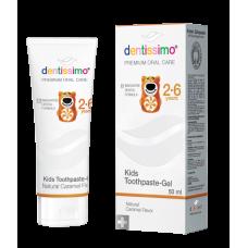 Детская зубная паста Dentissimo Kids with Caramel Aroma от 2 до 6 лет