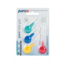 1090 Paro 3Star-Grip Набор ершиков треугольной формы разного диаметра, (упаковка 4 шт)