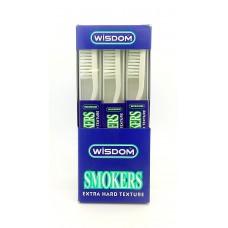 2123 - Зубная щетка Wisdom SMOKERS очень жесткая.