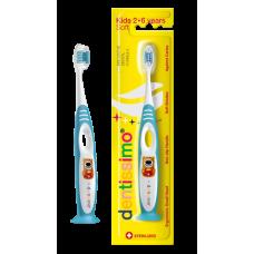 Зубная щетка Dentissimo Kids от 2 до 6 лет мягкая щетина (голубая)