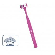 724 Paro superbrush soft Зубная щетка 3 в 1, мягкая щетина, 3d эффект очищения.