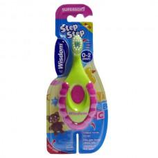 2383  Детская зубная щетка Wisdom Step by Step от 0-2 лет