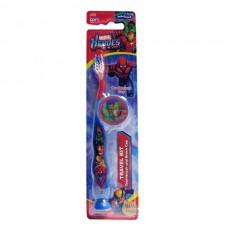 Детская зубная щетка Marvel Heroes Travel kit Toothbrush with cap