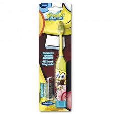 Детская электрическая зубная щетка Spongebob TURBO power medium