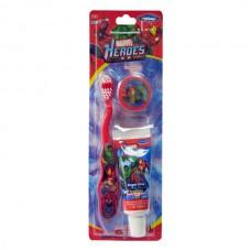 Детский набор для чистки зубов Marvel Heroes Travel kit 2