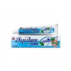 "0051 Зубная паста ""Herbal Twin Lotus Fresh&Cool"" 100 гр С травами свежесть и прохлада"