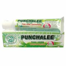 """7698 Органическая зубная паста Панчале с тайскими травами """"Punchalee Herbal Toothpaste"""" 35 гр"""